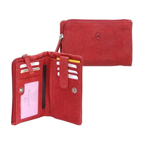 dR Amsterdam Wallet Olive Red