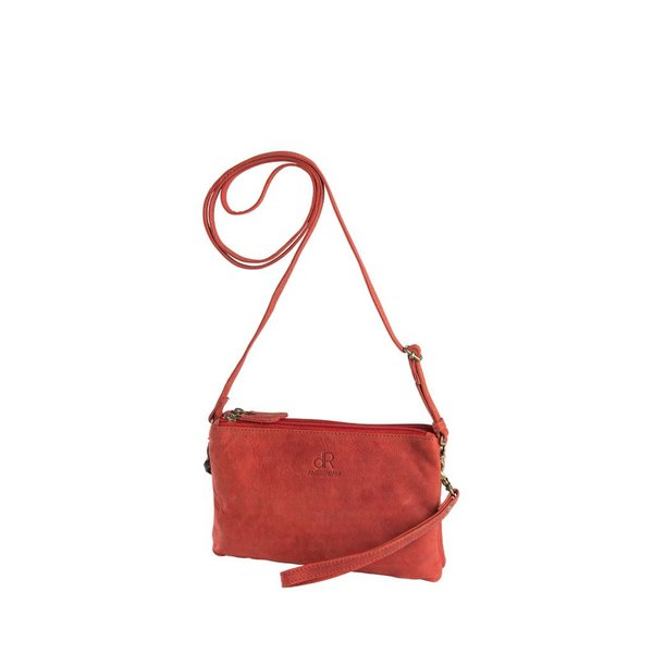 dR Amsterdam Schultertasche / Clutch Red Olive