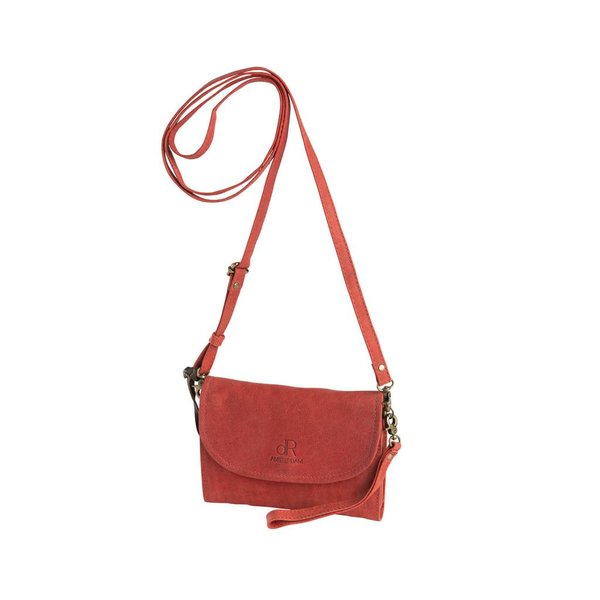 dR Amsterdam Clutch Olive Tango Red