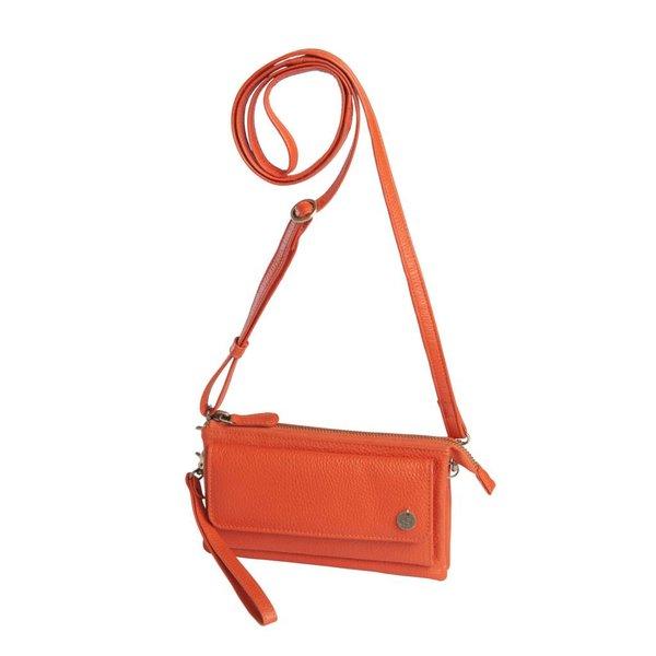 dR Amsterdam Schultertasche / Clutch Mint Tangerine Tango orange