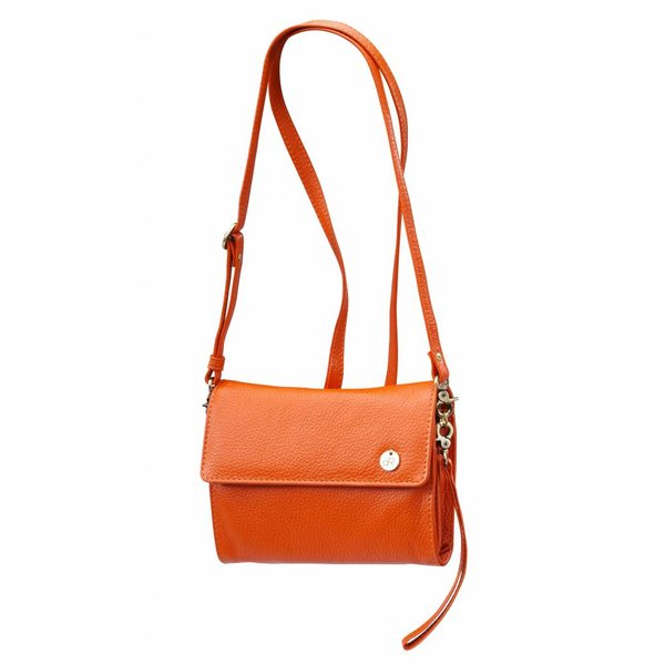 dR Amsterdam Clutch Mint Tangerine Tango orange