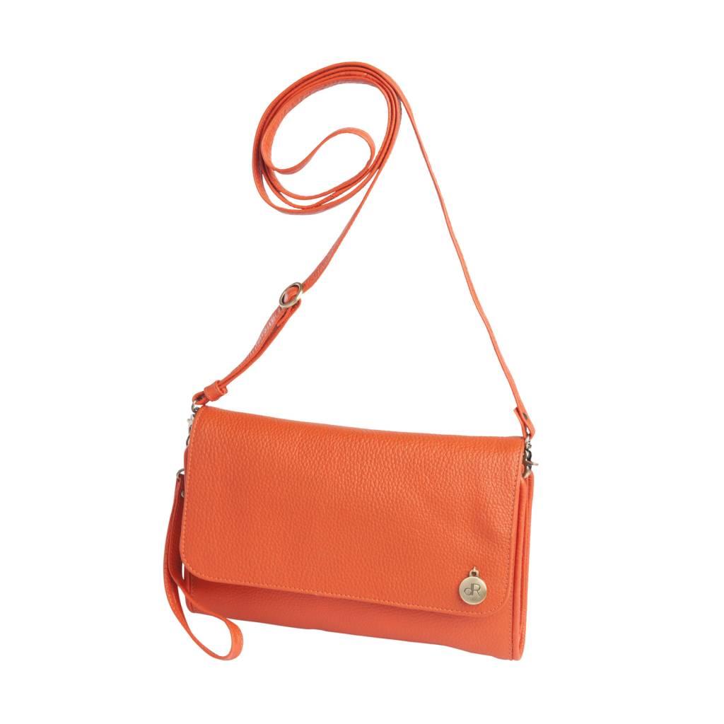 dR Amsterdam Clutch Mint Tangerine Tango Orange