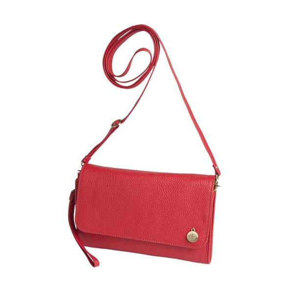 dR Amsterdam Clutch Mint Tango Red