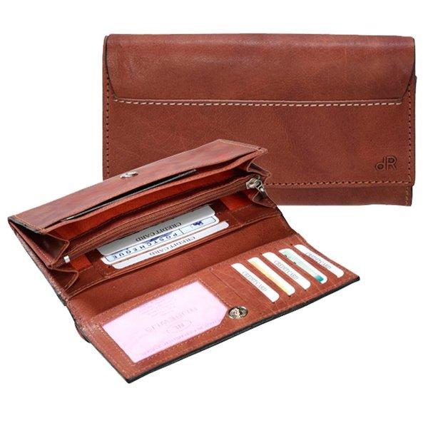 dR Amsterdam Wallet Waxi Chestnut