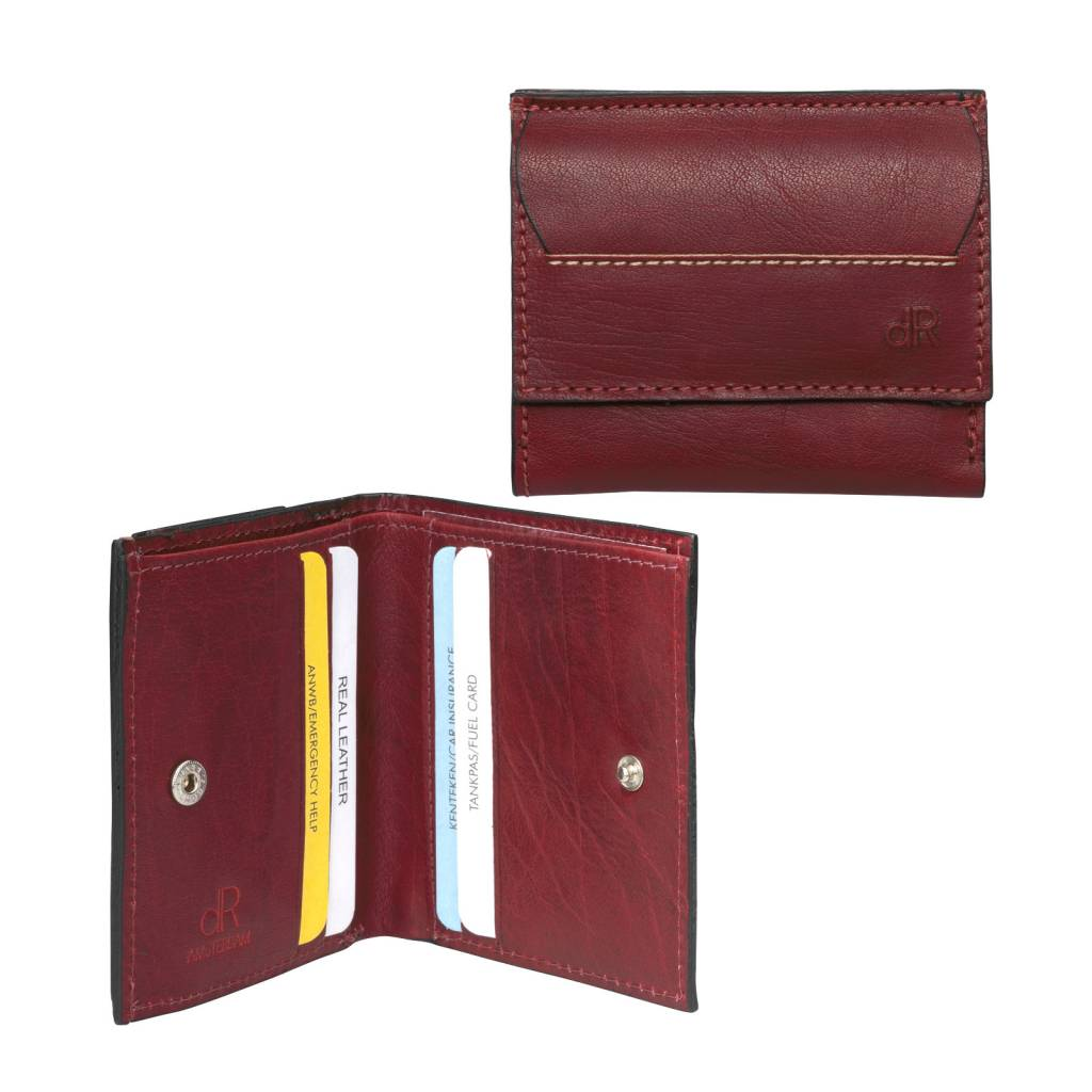 dR Amsterdam Billfold Waxi Red