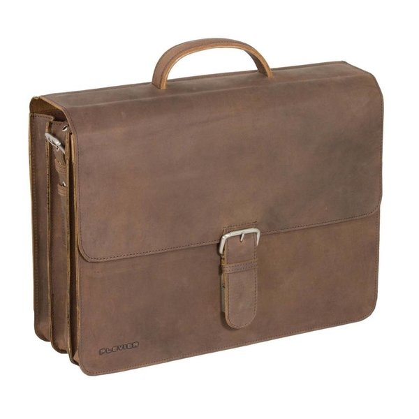Plover-Leder-Laptop Brown