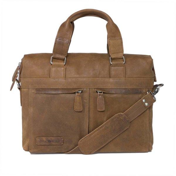 Plover learn business / laptop bag top loader cognac