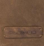 Plevier Plevier leren Business/laptoptas toploader cognac