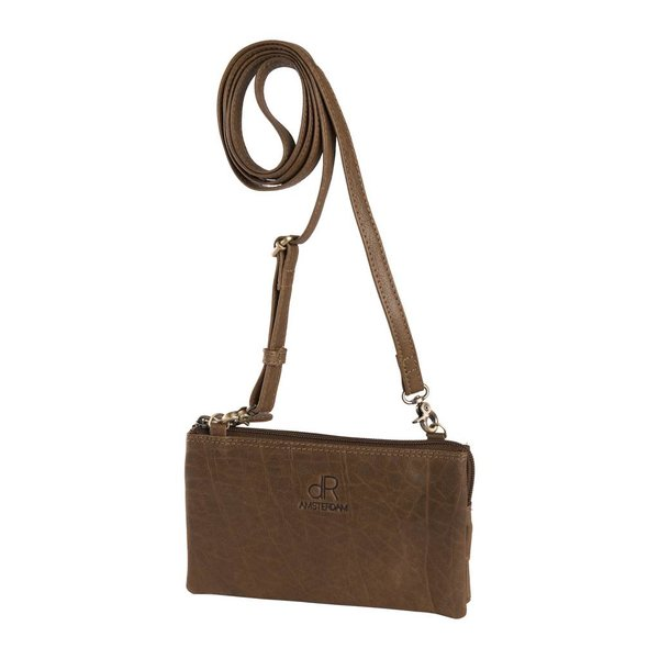 dR Amsterdam Schultertasche / Clutch Icon Taupe