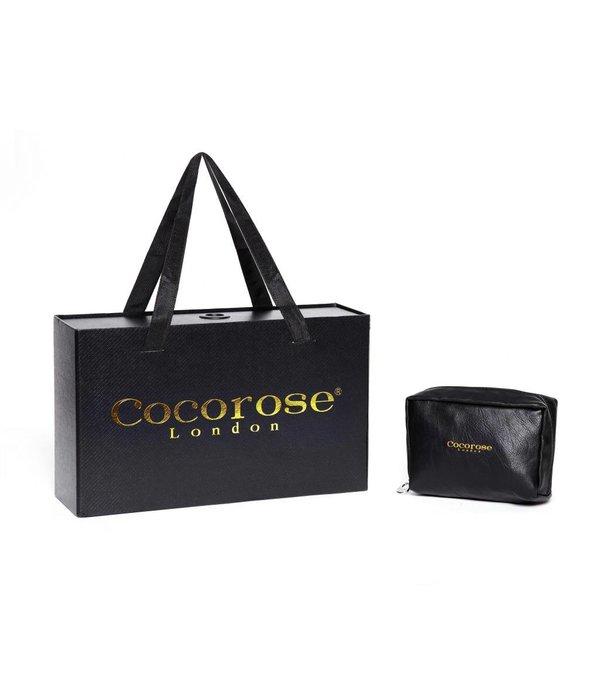 Cocorose London Coco Rose London Stratford Black & Silver Snake Print