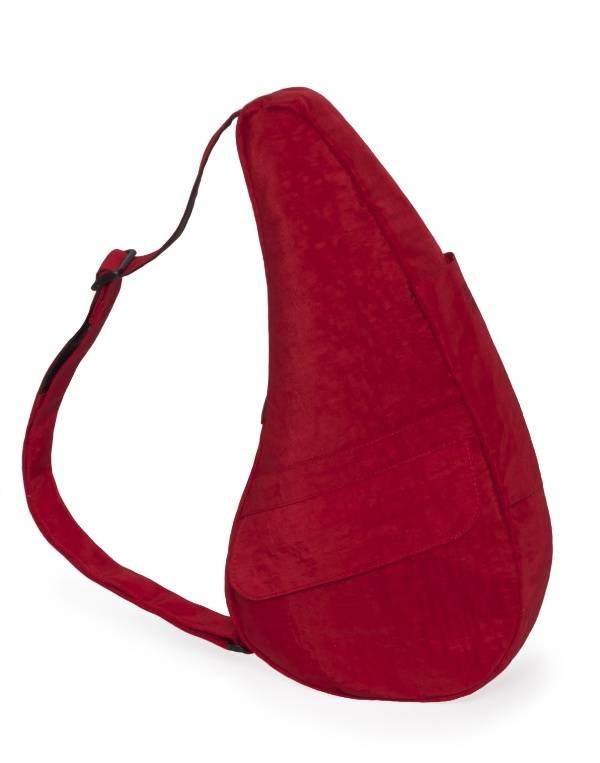 The Healthy Back Bag Textured Nylon met iPad vak Crimson Red Medium