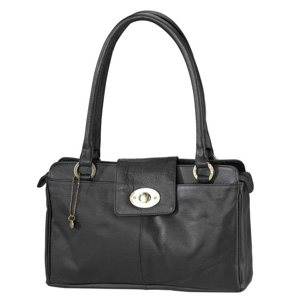 dR Amsterdam Mint schwarze Handtasche
