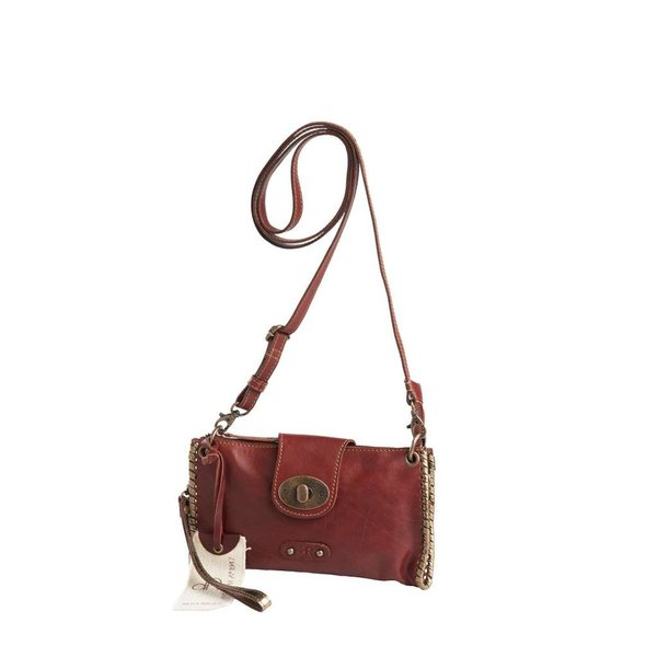 dR Amsterdam Schultertasche / Clutch Red Waxi