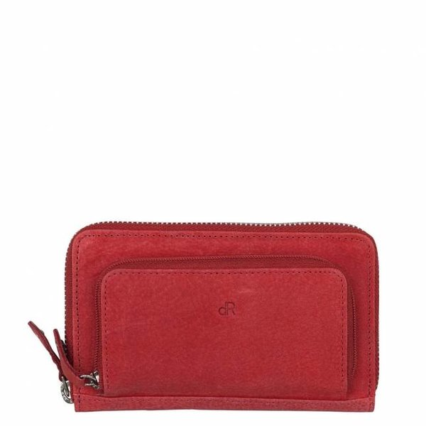 dR Amsterdam Wallet Olive Red