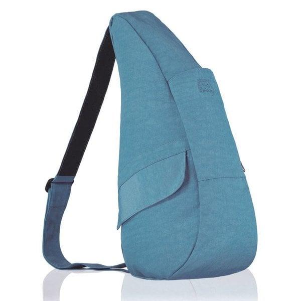 Die Healthy Back Bag Nylon Textured Teal Kleine