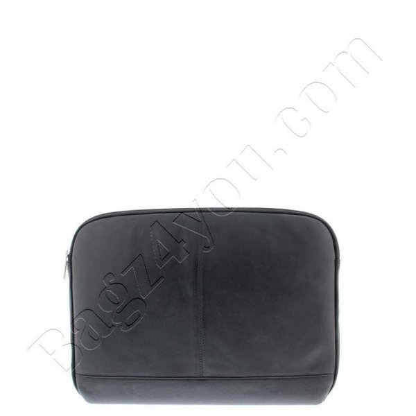 """Plover Business / laptop sleeve soft nappa leather 14 """"Black 4077"""