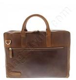"""Plevier Plover Gewerbe- / Laptop-Tasche Vintage-Leder 2 Fächer 15.6 """"Dark Brown 38"""