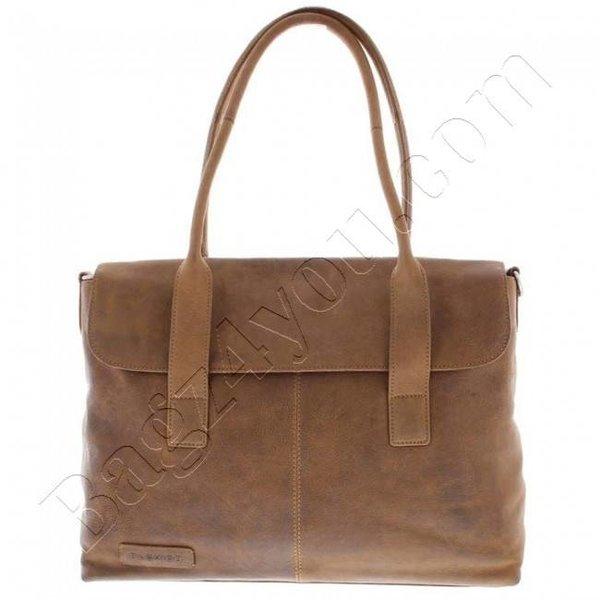 "Plover Business / laptop bag ladies' full grain leather one-compartment 15.6 ""Cognac 473"