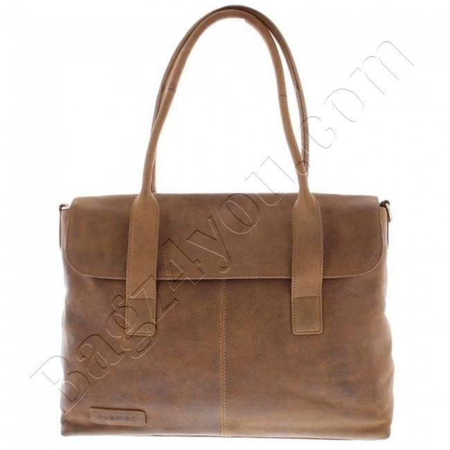 Plevier Business-laptoptas dames volnerf leer 1-vaks 15.6 Cognac 473
