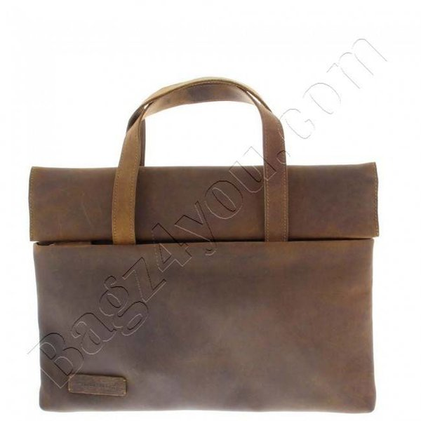 Plevier Laptopsleeve plantaardig gelooid vintage leer 14-15 inch Dark Brown 561