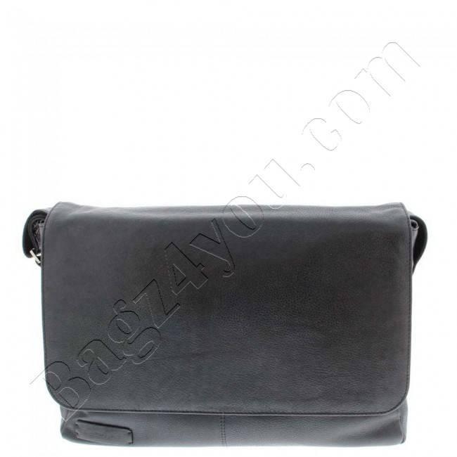 Plevier Business/laptop messenger volnerf rundleer 2-vaks 15.6″ Black 474