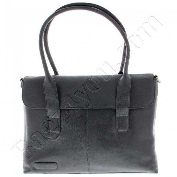 """Plover Business / laptop bag ladies cowhide 1-compartment 15.6 """"Black 473"""