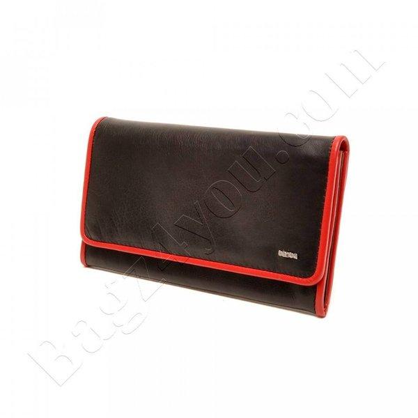 Berba SOFT DAMES PORTEMONNEE 001-403-15 zwart rood