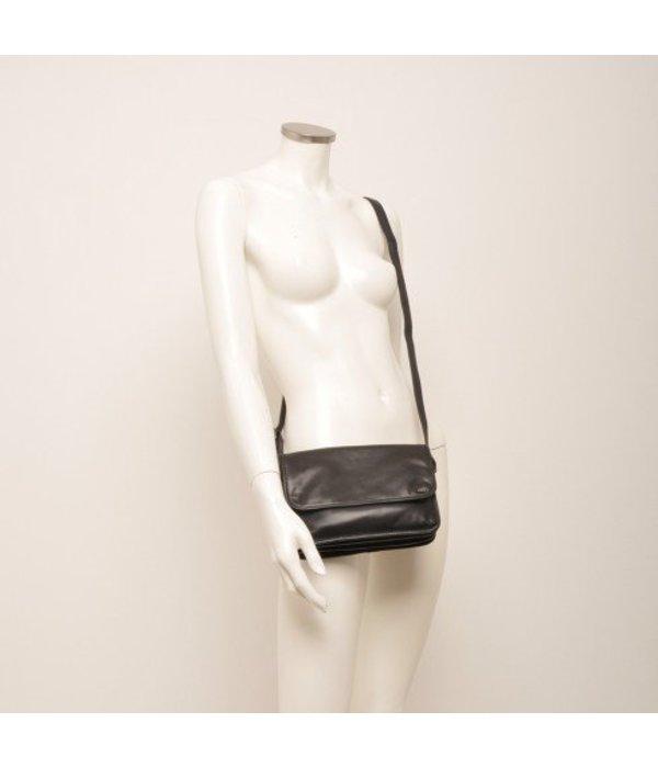 Berba Berba Leder Crossover Damen Tasche Soft Black 005-517-00
