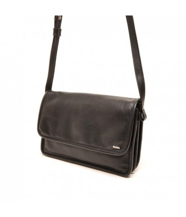 Berba Berba Leder Crossover Damen Tasche Soft Black 005-562-00