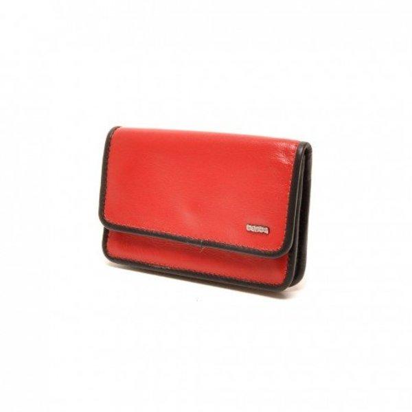 Berba Lederschlüsseltasche Weiche 003-096-35 Rot Schwarz