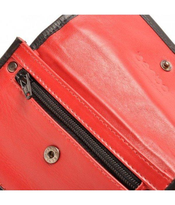 Berba Berba Lederschlüsseltasche Weiche 003-096-35 Rot Schwarz