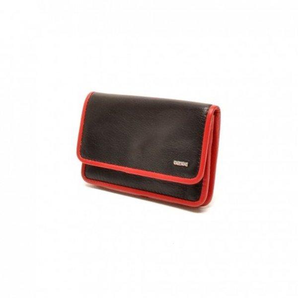 Berba Lederschlüsseltasche Weiche 003-096-15 Schwarz Rot