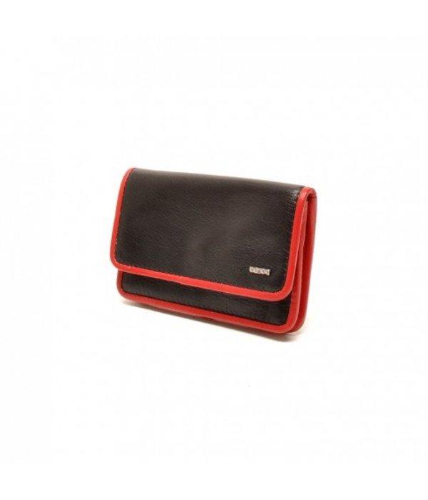 Berba Berba Lederschlüsseltasche Weiche 003-096-15 Schwarz Rot