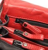 Berba Berba Leder Damentasche Weiche 005-575-15 Schwarz-Rot