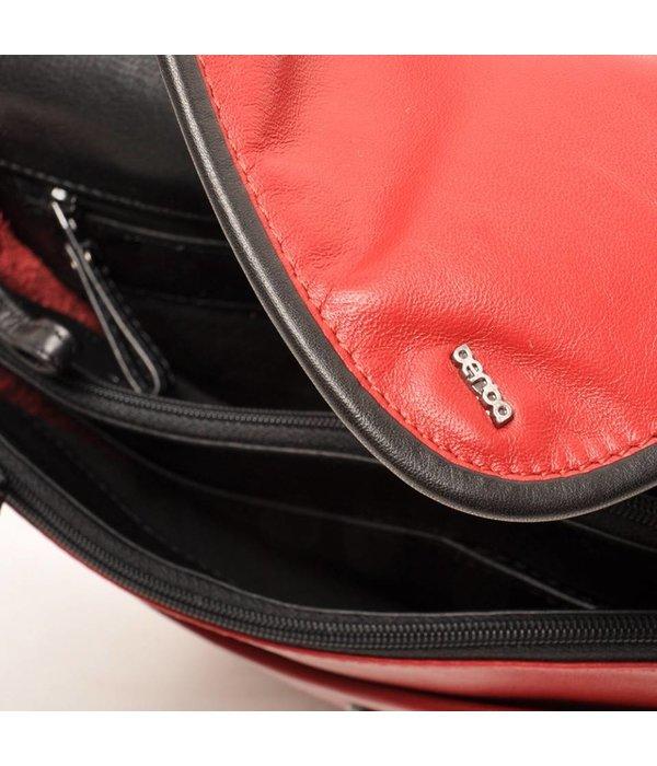 Berba Berba Leder Damentasche Weiche 005-575-35 Red- Schwarz