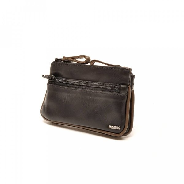 Berba leather key pouch Soft 003-095-14 Black Taupe