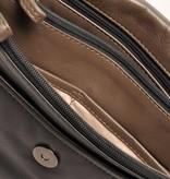 Berba Berba Leder Damentasche Weiche 005-575-14 Schwarz Taupe