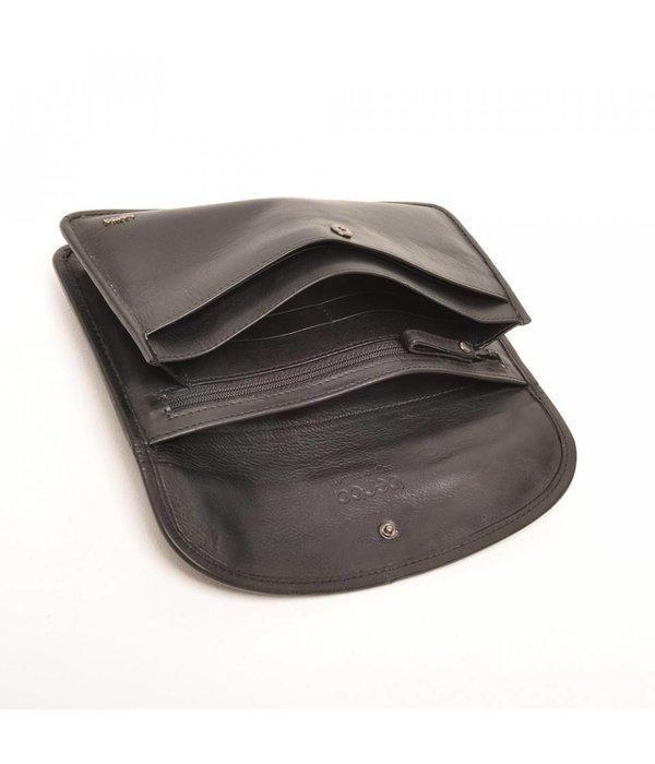 Berba Berba Leder Damen Portemonnaie Soft Black 001-164-00