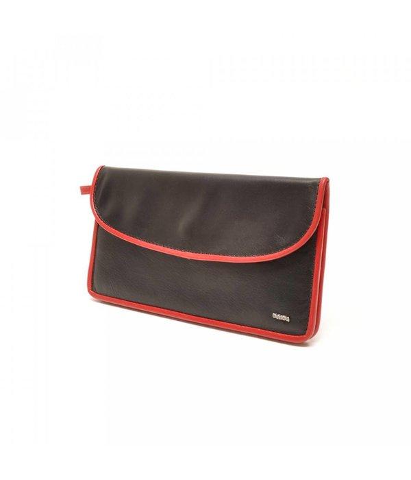 Berba Berba Leder Damen Portemonnaie Weiche 001-164-15 Red Black-