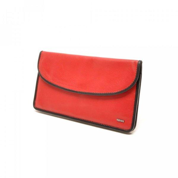Berba Leder Damen Portemonnaie Weiche 001-164-35 Red- Schwarz
