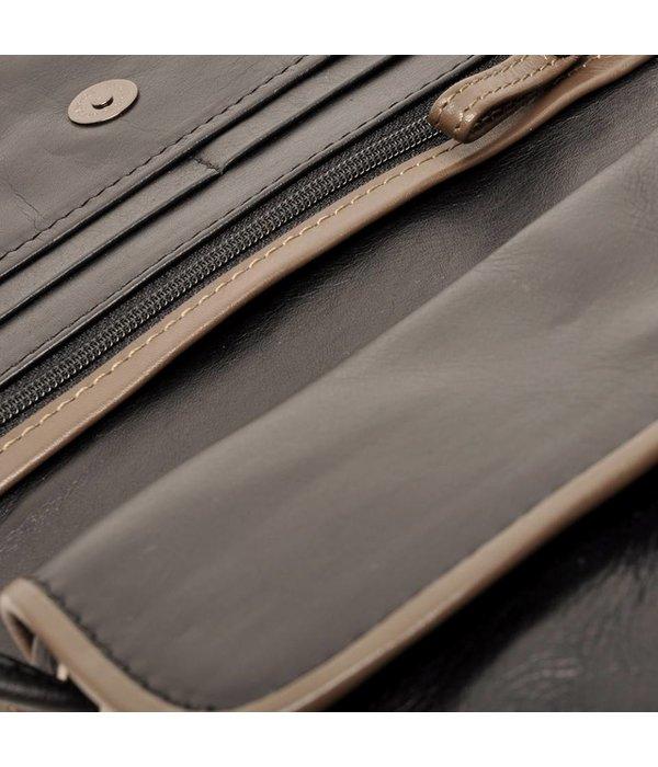 Berba Berba Leder Damentasche Weiche Taupe 005-505-14 Black-
