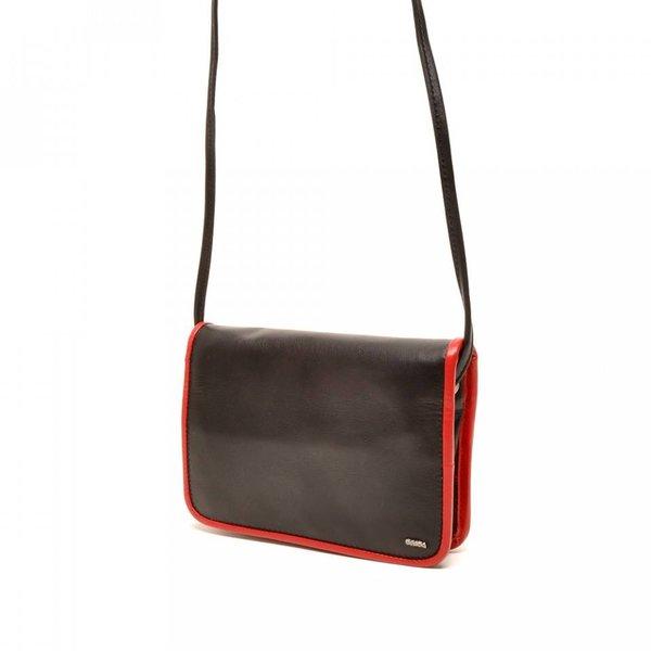 Berba Leder Damentasche Weiche 005-505-15 Schwarz-Rot
