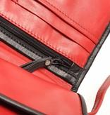Berba Berba Leder Damentasche Weiche 005-505-35 Red- Schwarz