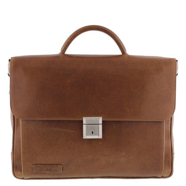 Plevier Business / laptop bag full grain leather crunch