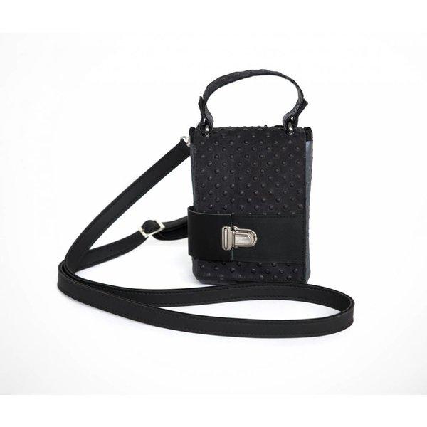 Maria La Verda Design Shoulder Bag / clutch Black / Dark Grey