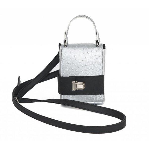 Maria La Verda Design Shoulder Bag / Clutch Silver