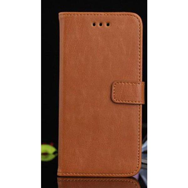 Luxe Portemonee/Iphone Houder voor Iphone 6 plus Cognac