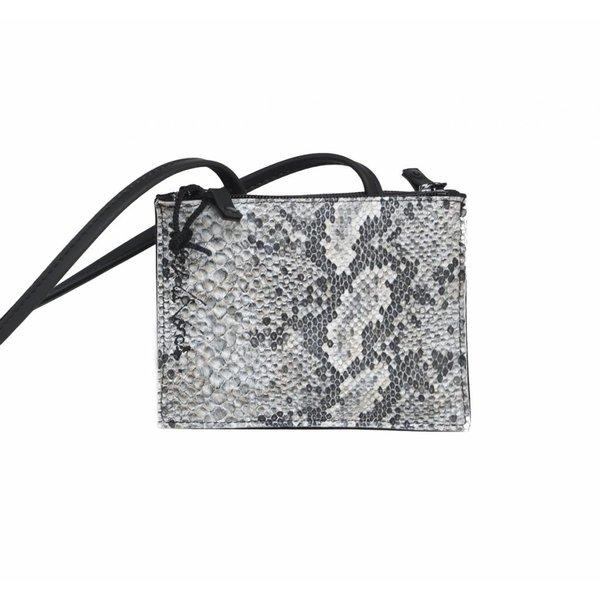 Maria La Verda Design Schoudertasje met slangenprint