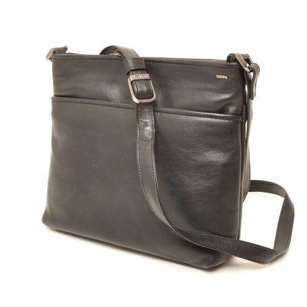 Berba Soft-Crossover-Reißverschlusstasche 005-440 Schwarz