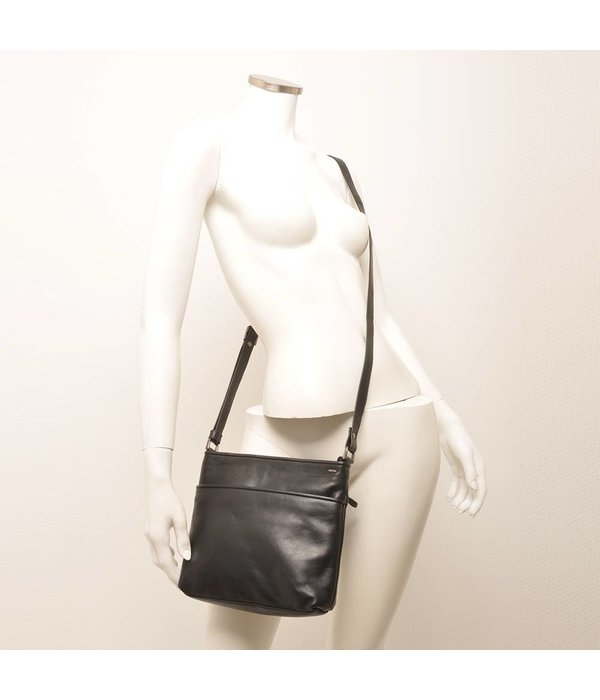 Berba Berba Soft-Crossover-Reißverschlusstasche 005-440 Schwarz